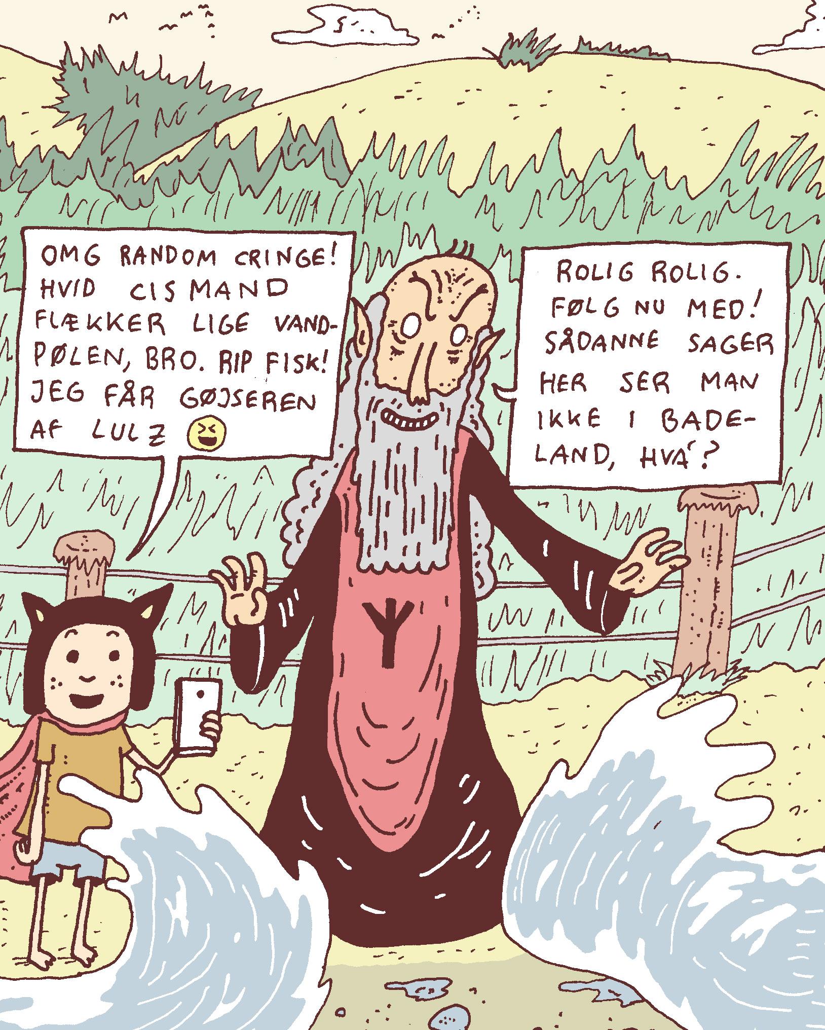 Elverfar deler væden
